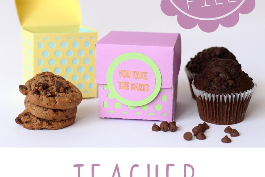 Teacher Appreciation Dessert Gift Box | MarvelousMommy.com