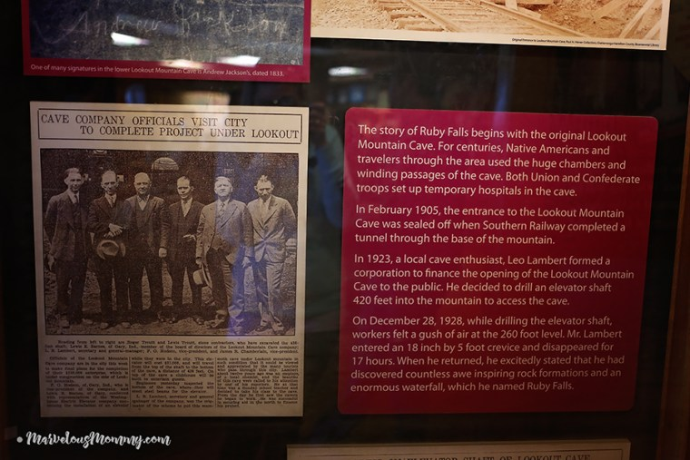 History of Ruby Falls