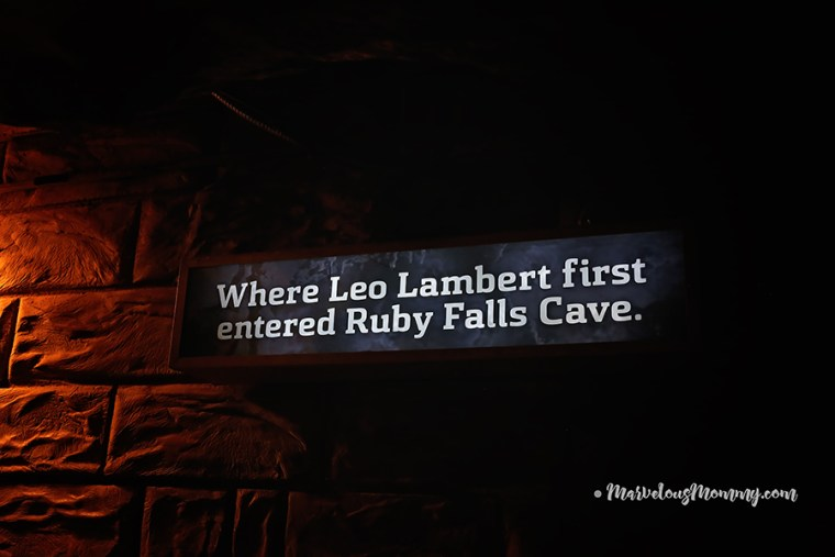 Where Leo Lambert first entered Ruby Falls Cave