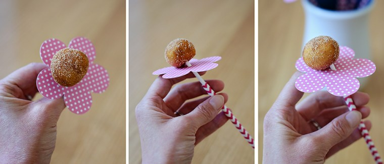 DIY Donut Hole Flowers