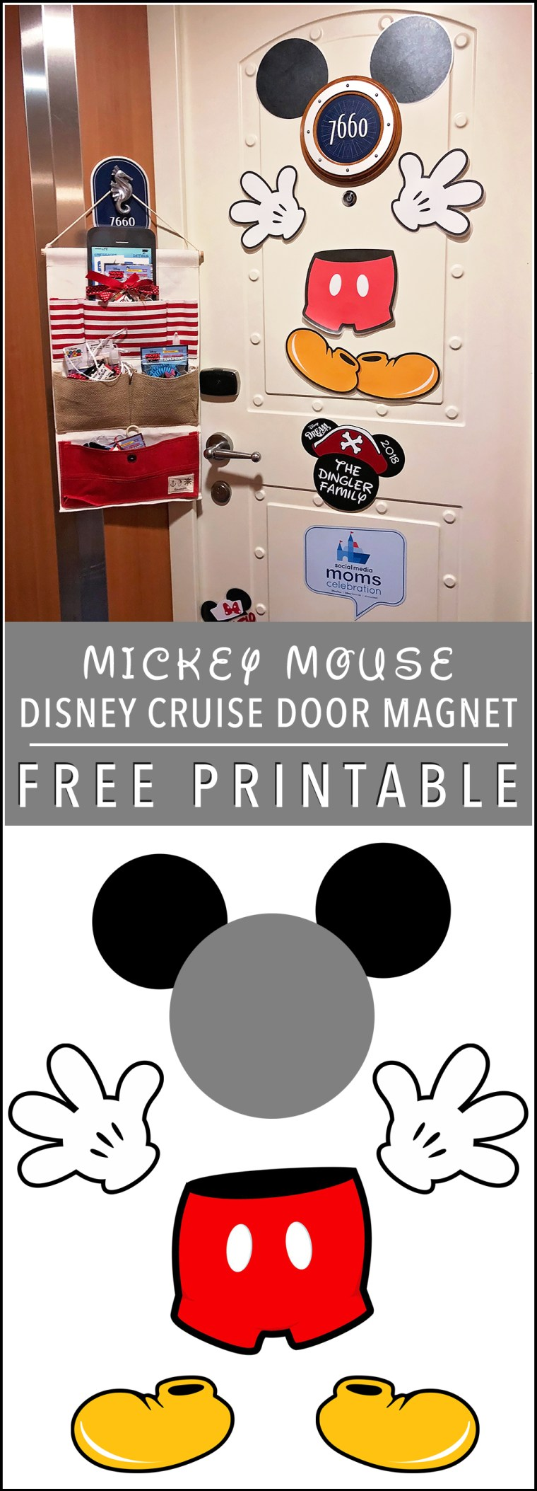 Disney Dream Cruise Mickey Mouse Door Magnet Free Printable
