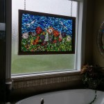 Flower Garden Glass on Glass Mosaic
