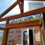 Large scale glass on glass mosaic