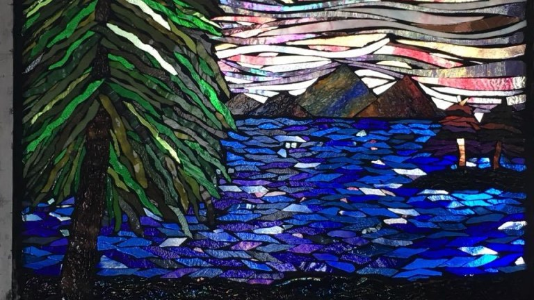 Stained Glass Mosaic by Angela Pond