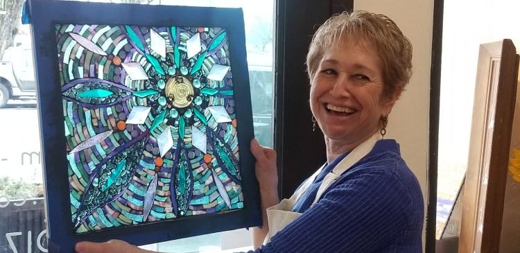 Mandala glass on glass mosaic class