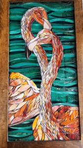 Kory Dollar of Marvelous Mosaic Fine Art Mosaic Flamingo