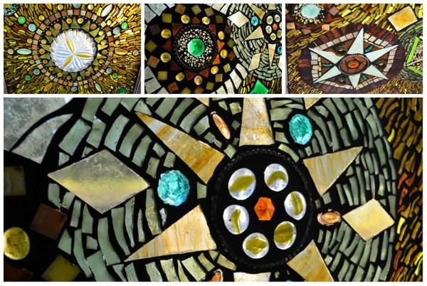 Mandala Glass on Glass Mosaic by Kory Dollar of Marvelous Mosaic Fine Art