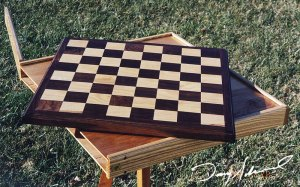 Chessboard with case by Doug Marvel, Marvelous Woodworking