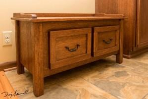 mahogany vanity bench