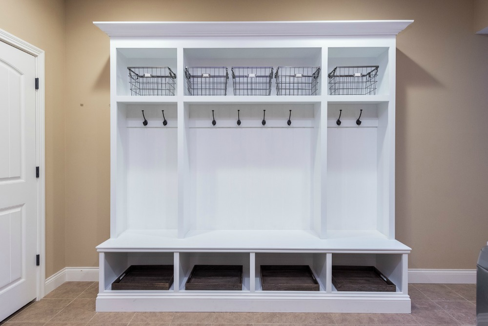 mud room custom storage