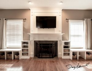 custom fireplace mantle | Placing a TV