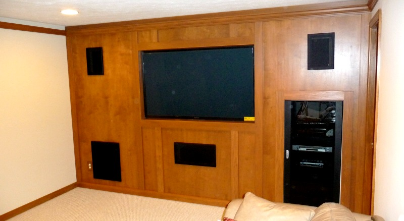 Placing A TV In Your Home Marvelous Woodworking - Tv false wall