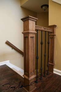 custom staircase railing_detail