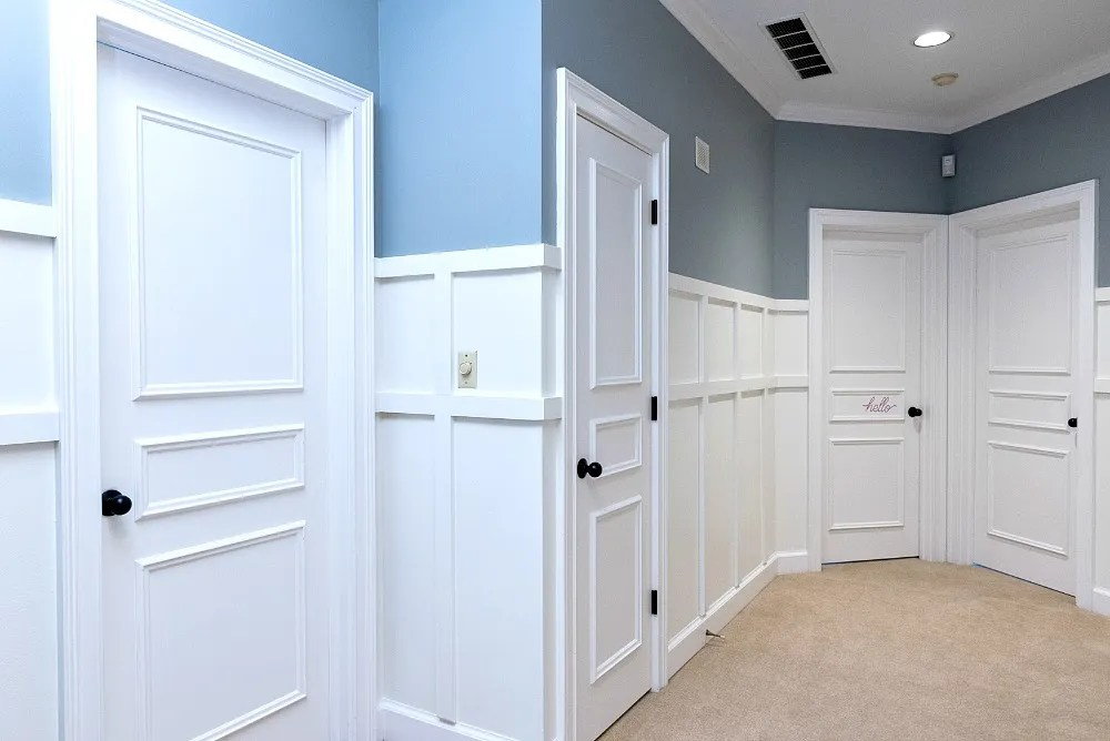 Adding Wainscoting | Hallway