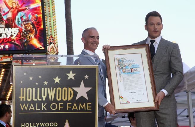 Chris Pratt Walk Of Fame Star Ceremony