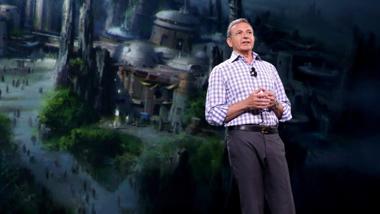 """ANAHEIM, CA - AUGUST 15:  The Walt Disney Company Chairman and CEO Bob Iger took part today in """"Worlds, Galaxies, and Universes: Live Action at The Walt Disney Studios"""" presentation at Disney's D23 EXPO 2015 in Anaheim, Calif.  (Photo by Jesse Grant/Getty Images for Disney)"""