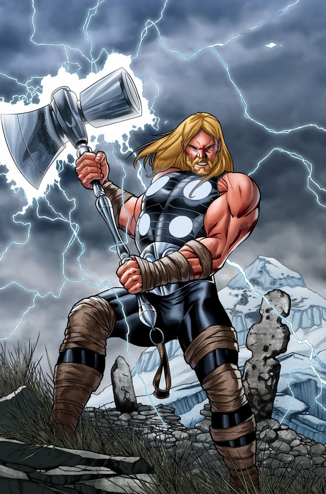 thor 39 s new weapon revealed and named in new 39 avengers. Black Bedroom Furniture Sets. Home Design Ideas