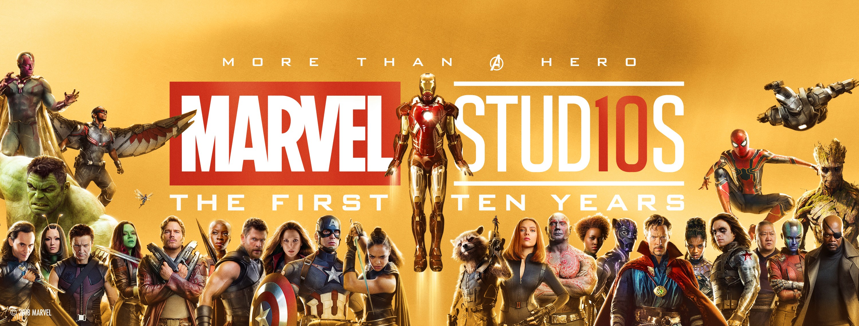 Marvel Studios 10th Anniversary Banner Arrives In Times
