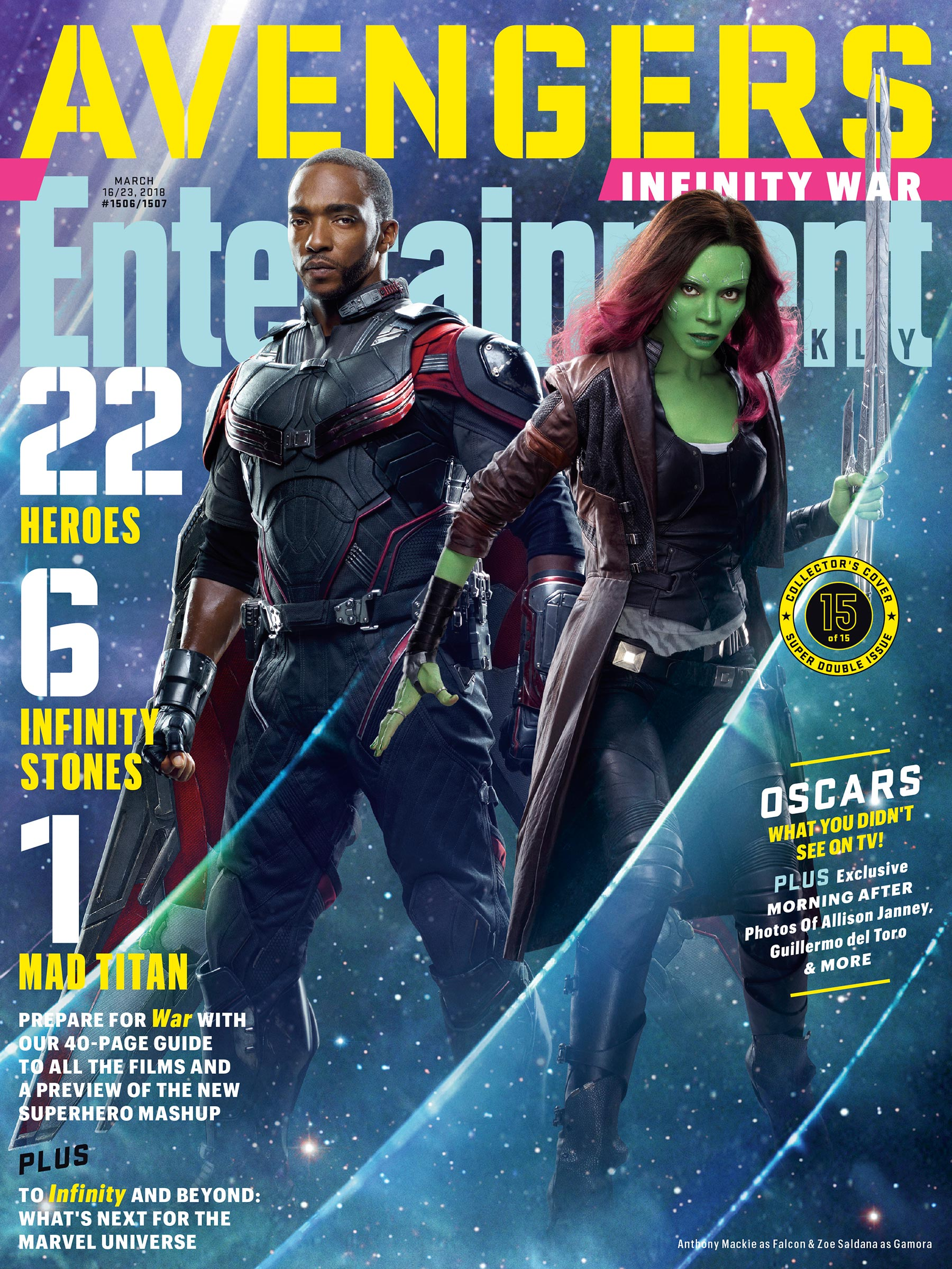 Image result for 15 poster entertainment weekly avengers infinity war