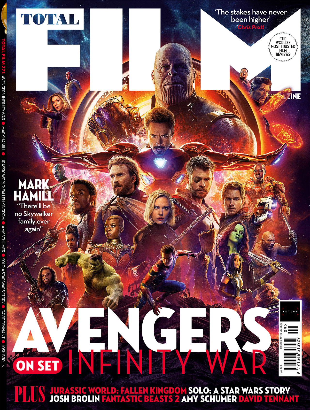 new 'avengers: infinity war' images released for total film cover
