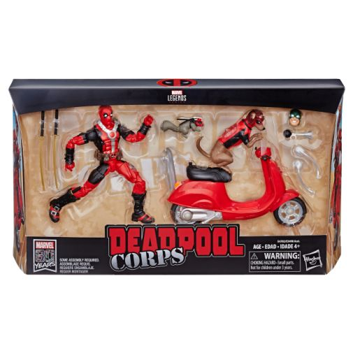 MARVEL LEGENDS SERIES 6-INCH Vehicles Assortment Wave 1 (Deadpool with Scooter) - in pck