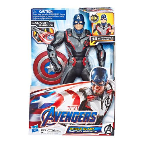 MARVEL AVENGERS ENDGAME SHIELD BLAST CAPTAIN AMERICA Figure in pck