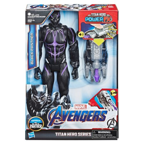 MARVEL AVENGERS ENDGAME TITAN HERO POWER FX BLACK PANTHER in pck