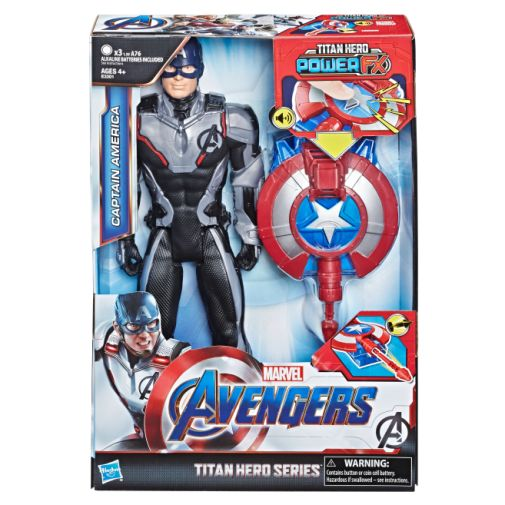 MARVEL AVENGERS ENDGAME TITAN HERO POWER FX CAPTAIN AMERICA in pck
