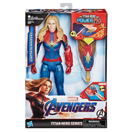 MARVEL AVENGERS ENDGAME TITAN HERO POWER FX CAPTAIN MARVEL in pck