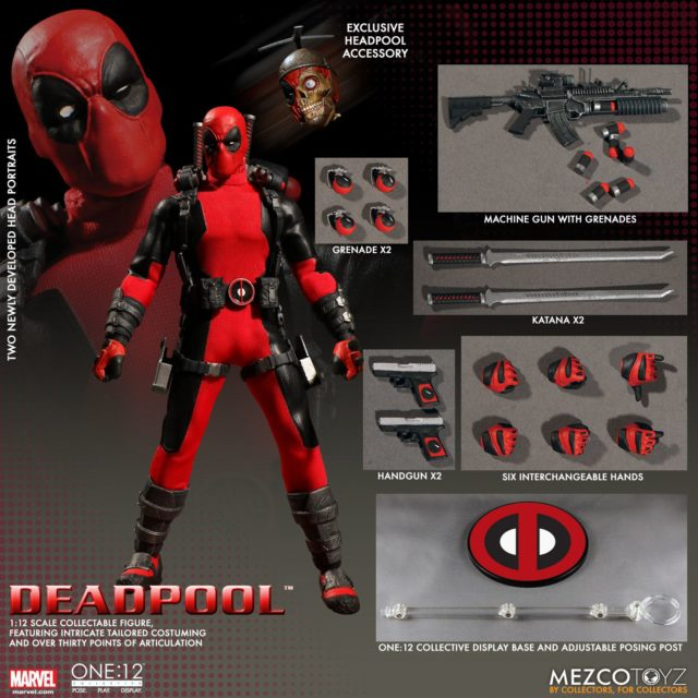 ONE 12 Collective Deadpool Exclusive Edition Figure and Accessories Headpool