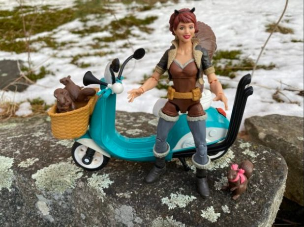 Marvel Legends Squirrel Girl Review Ultimate Riders Scooter