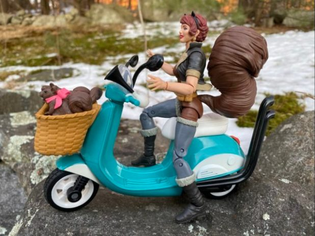 Squirrel Girl Marvel Legends Figure on Scooter Bike Review