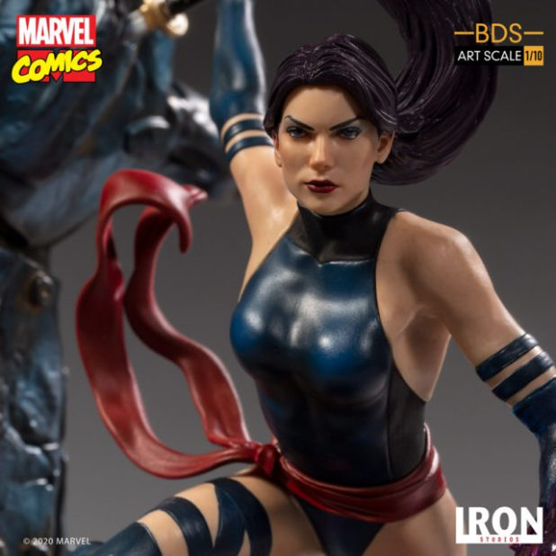 Close-Up of Psylocke Iron Studios Statue