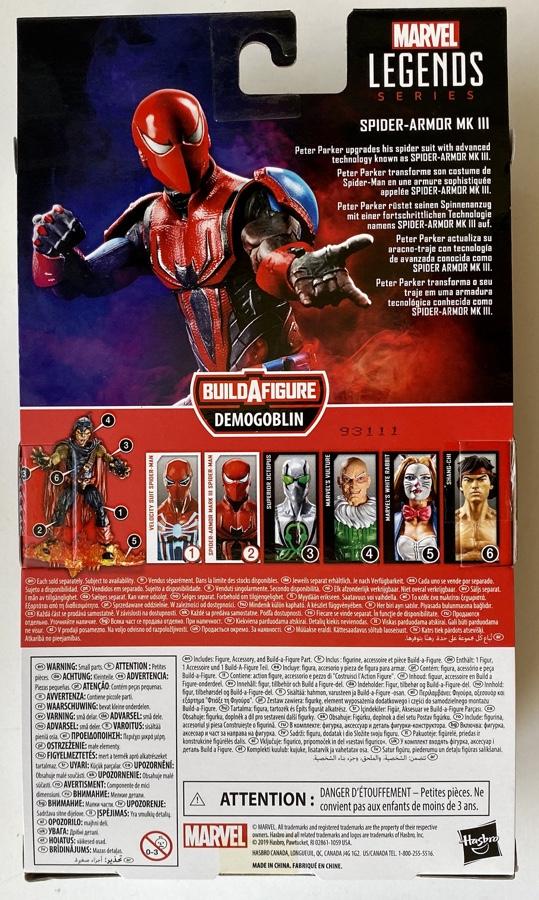 Box Back Spider-Man Armor Mk III Demogoblin Series Figure