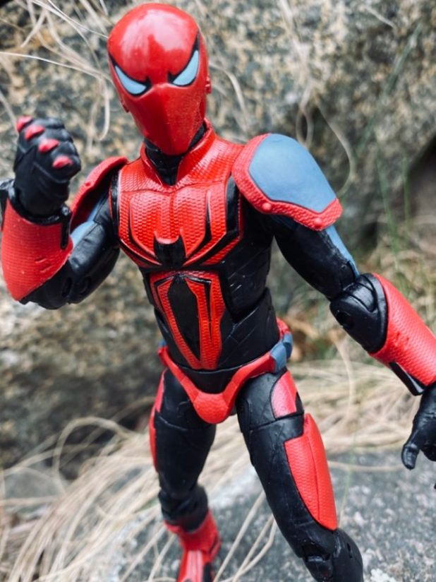 Close-Up of Spider-Man Armor Mark III Hasbro Marvel Legends Action Figure