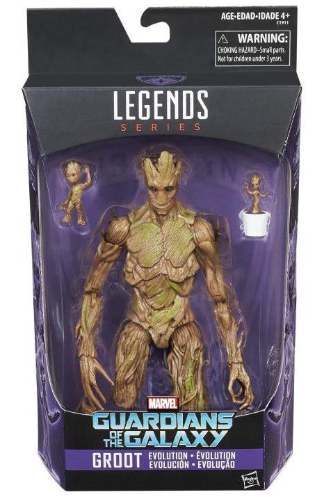 Groot Evolution Marvel Legends Figure Set Packaged