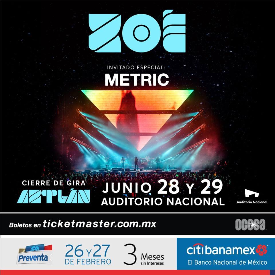 El Auditorio Nacional será el escenario para cerrar la gira de Zoé: Aztlán.