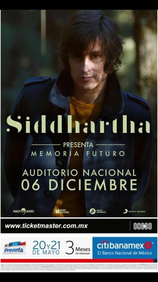Siddhartha Auditorio Nacional diciembre 6 concierto boletos