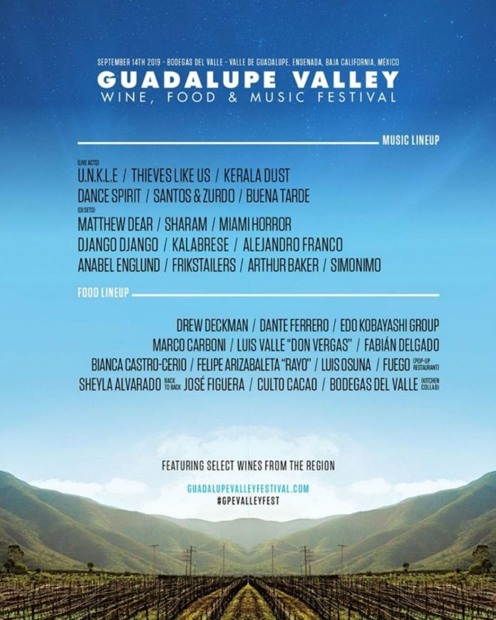 Guadalupe Valley Festival Ensenada Baja california concierto boletos 14 septiembre