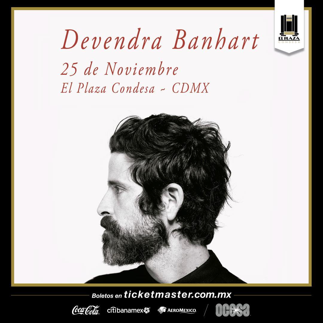 Devendra Bnahart se presentará en El Plaza