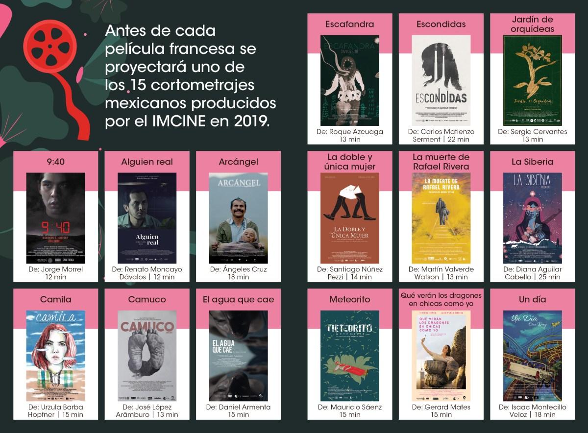 Tour de Cine Francés cortometrajes películas mexicanas
