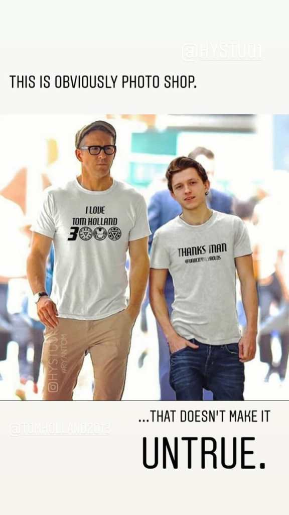 Ryan Reynolds y Tom Holland broma