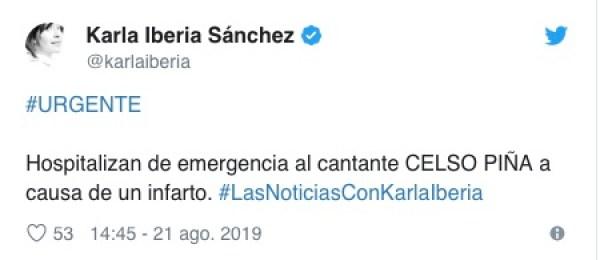 celso pina muere infarto monterrey hospital vida 2019