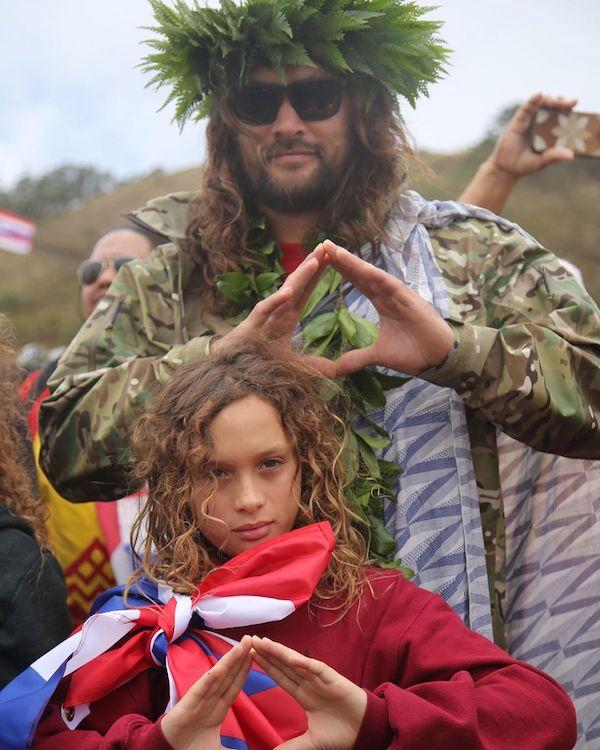 jason momoa aquaman protesta hawaii telescopio 2019