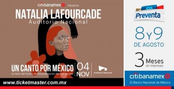 natalia laforucade concierto auditorio nacional boletos cartel