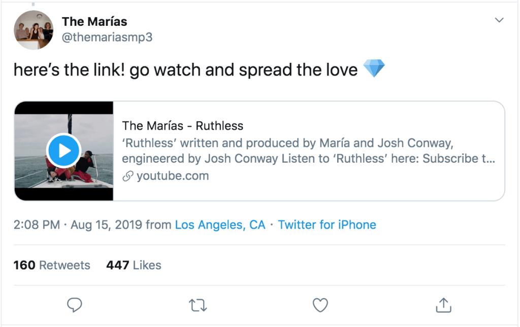 The Marías Twitter
