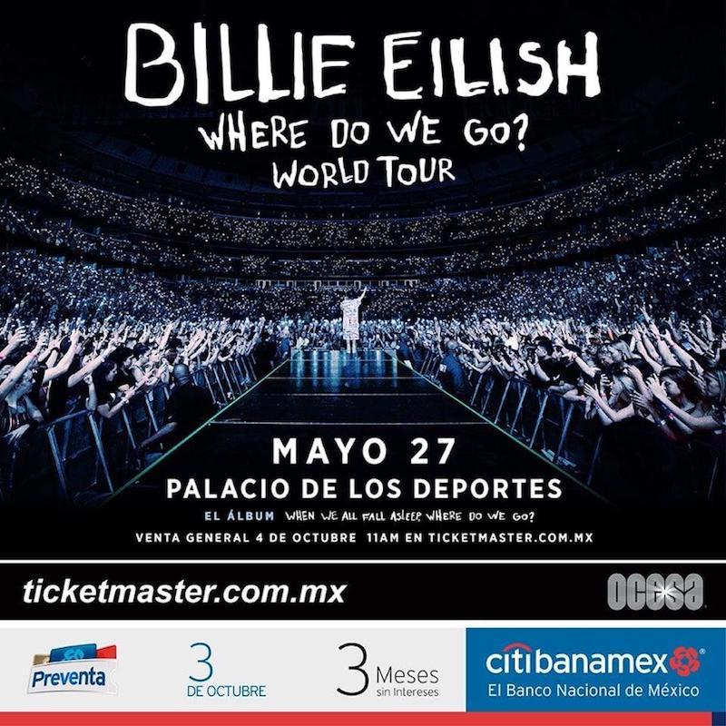 billie eilish concierto mexico cdmx guadalajara boletos gratis