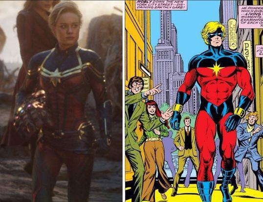 Capitana Marvel traje Avengers: Endgame