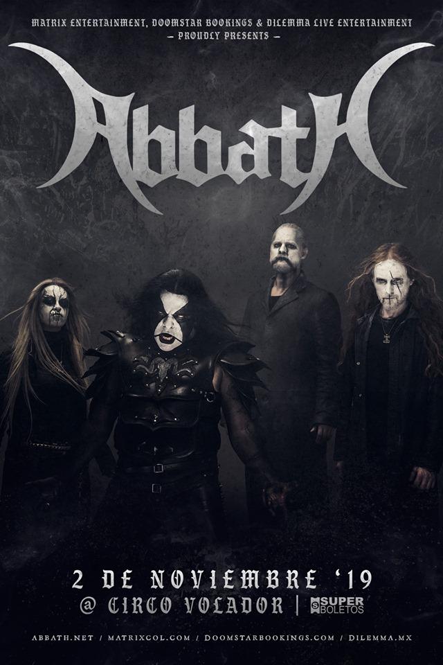 Abbath regresa a México en Día de Muertos