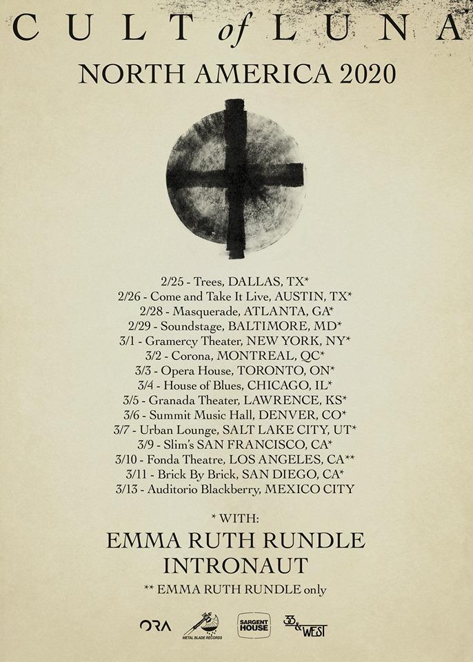Cult of Luna llegará a México en marzo de 2020